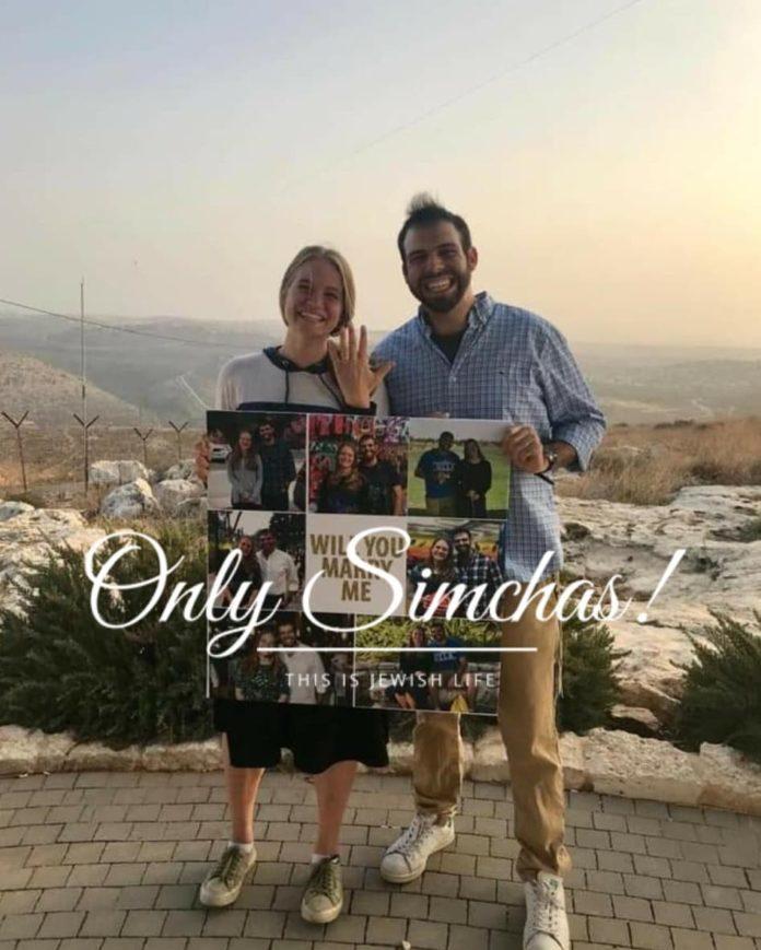 Engagement of Ami Toben and Julie Gershbaum (#Israel)! #onlysimchas