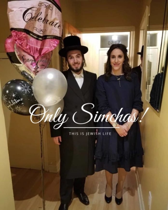 Engagement of Ari Schimmel (#BoroPark) to Leah Farkas (#Montreal)! #onlysimchas