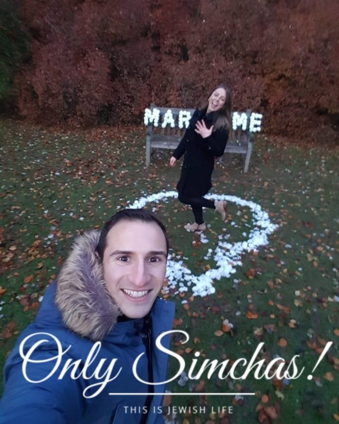 Engagement of Avi Korman (#London) and Laura Glass (#Manchester)! #onlysimchas