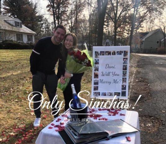 Engagement of Akiva Shulman (#Hillside, #NJ) and Dani Berlin (#Edison, #NJ)! #onlysimchas
