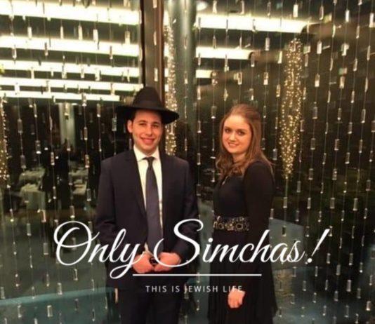 Engagement of Motti Kahan (#Manchester) to Dina Green (#Zurich)!! #onlysimchas