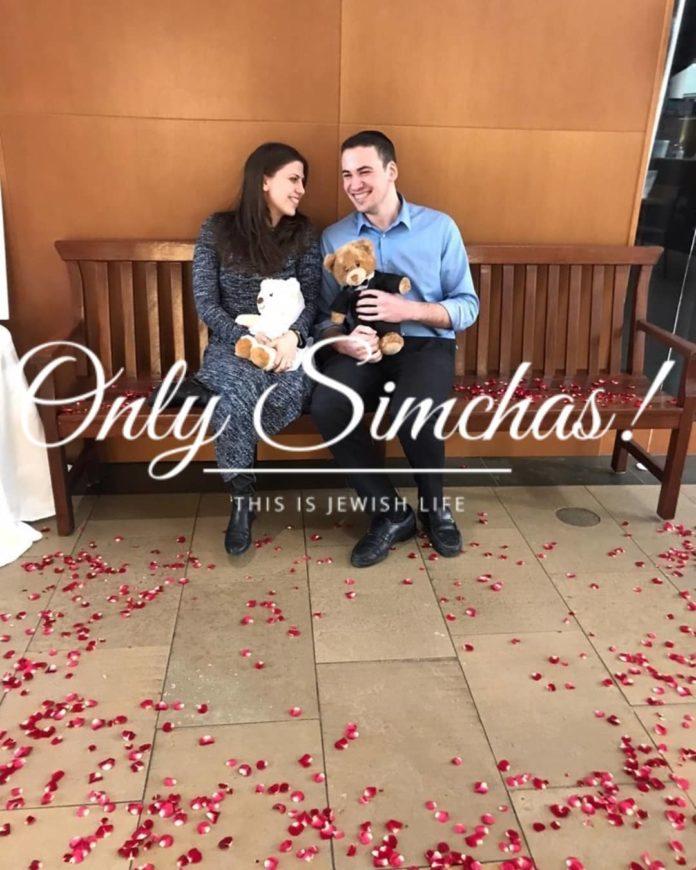 Engagement of Rachel Hoffman (#fivetowns) and Dovid Abramowitz (#queens)!