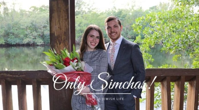 Engagement of Jesse Salver (#FL) and Tali Trencher (#CT)!! #onlysimchas