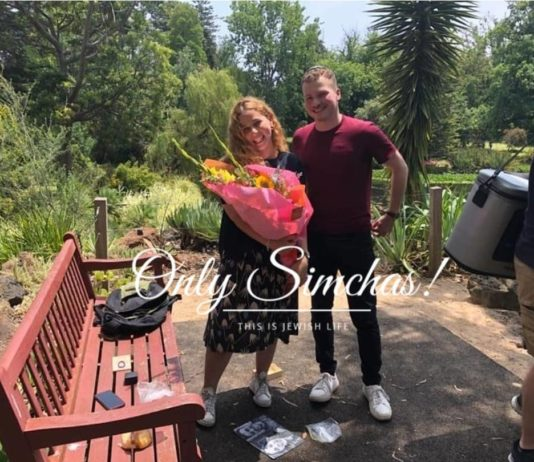 Engagement Lele Kaltman (#Melbourne) Aryeh Roberts (#Maryland)!! #onlysimchas