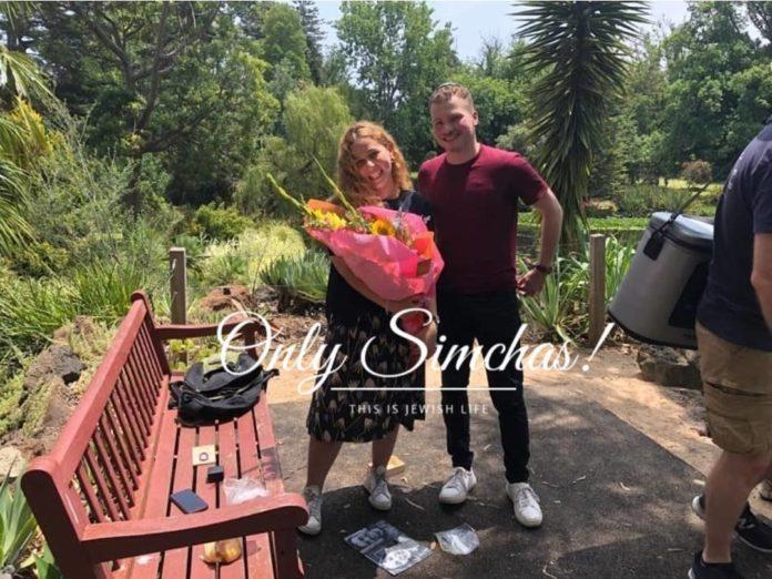 Engagement Lele Kaltman (#Melbourne) Aryeh Roberts (#Maryland)!! #onlysimchas