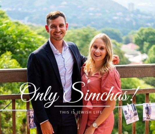 Engagement of Aaron Chazen and Hannah Swartz (#Johannesburg #SouthAfrica)!! #onlysimchas