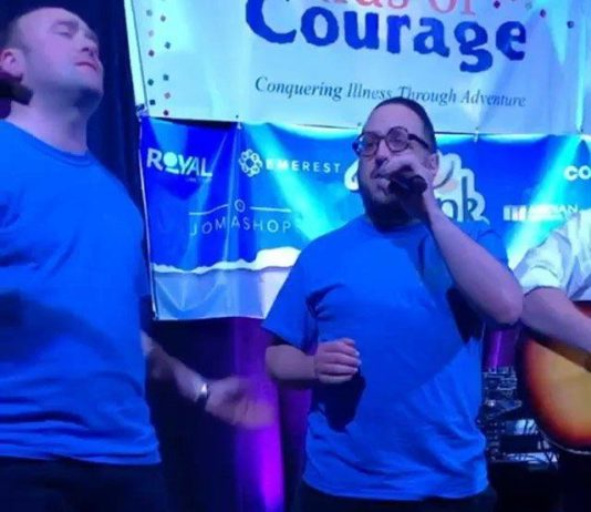 @noikyroberts from Gibraltar performing with @lipa_schmeltzer at kids of courage Motzai Shabbos. @kidsofcourage