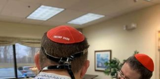 """This boy's Bar Mitzvah was a """"Red Wave"""" in support of Trump"""