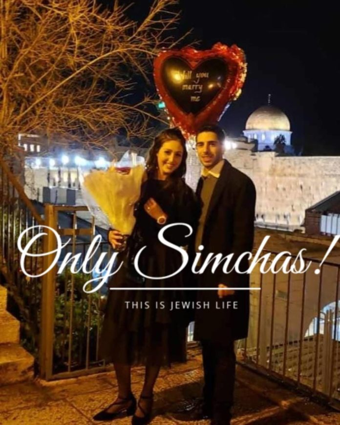 Engagement of Claim Grosskopf (#London) to Molly Weinstock (#Israel)!! #onlysimchas
