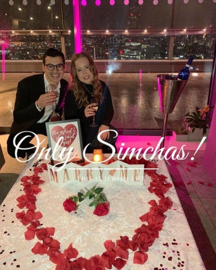 Engagement of Leoni Herszaft from (#Edgware) and Motti Rotenberg (#Edgware)!! #onlysimchas
