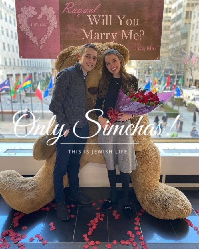 Engagement of Max Cohen (#Lawrence) Raquel Schwartz (#Teaneck)!! #onlysimchas