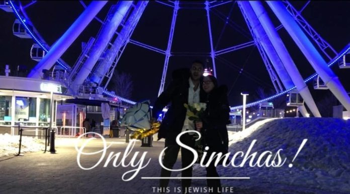 Engagement of Noa Dahan and Yossef Cohen (#Montreal)!! #onlysimchas