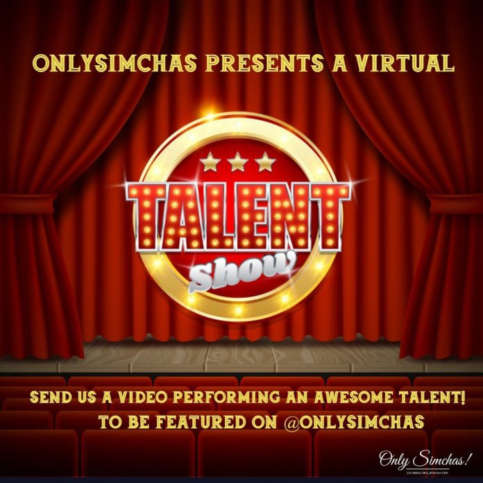 Introducing the Onlysimchas virtual talent show! 🙌🏻 Send us your videos performing an incredible talent ⭐️ #Onlysimchas #onlysimchasgottalent