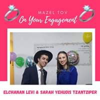 Engagement Of Elchanan Levi & Sarah Yehudis Tzantziper! #onlysimchas