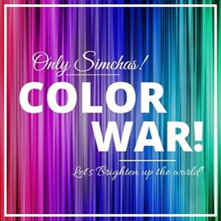ARE YOU READY!!! 🥳 ONLYSIMCHAS COLOR WAR!!! 🤩 MORE INFO COMING SOON! 👊🏻 #letsbrightenuptheworld #onlysimchas