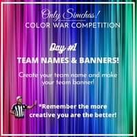 LET THE GAMES BEGIN! 🎉 Today's Challenge: Create your team name and design your team banner. RULES👇🏻