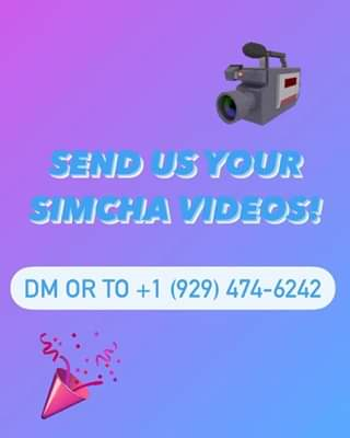 At a Simcha? Going to a Simcha? Help us #spreadsimcha 👊🏻 Send us your simcha videos! 🎥 DM us your videos of sent them to +1 (929) 474‑6242 on WhatsApp. 🥳 #onlysimchas #welovevideos